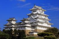 Shinsei Himeji Castle stock photo