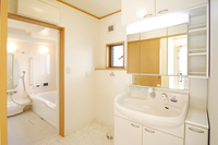 Wash room and bathroom image of residence Stock photo [3551661] House