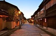 Dusk of Kanazawa Higashi Chaya District Stock photo [3552394] Higashi