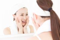Women look in the mirror Stock photo [3556774] Female