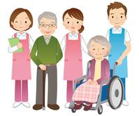 Wheelchair old man and a helper [3557702] Wheelchair