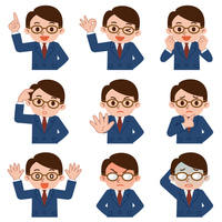 Expression set of young businessman [3563075] Man