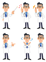 Doctor, six types of pose and gesture Doctor