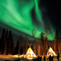 Aurora to see in Yellowknife Stock photo [3667549] Canada