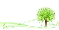 Tree fresh green note [3667926] Tree