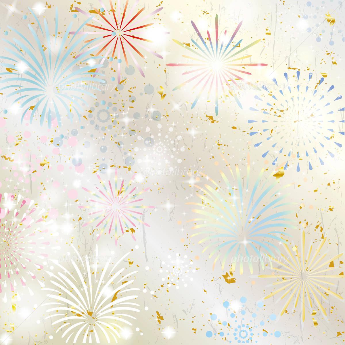 Japanese Pattern fireworks イラスト素材