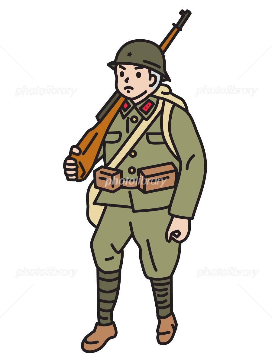 旧日本軍の兵士 イラスト素材 3785819 フォトライブラリー