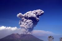 Sakurajima to raise the plume Stock photo [3779751] Kyushu