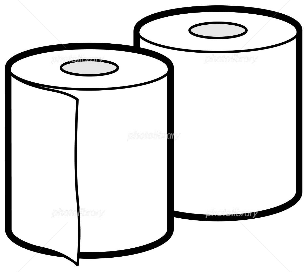 「トイレットペーパーイラスト」の画像検索結果
