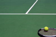 Tennis racket and ball Stock photo [3888606] Tennis