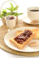 Ogura toast and coffee Stock photo [3892458] Toast