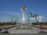 Bayterek it is in Kazakhstan's capital Astana Stock photo [3892761] Central