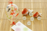 Image wind chimes and goldfish figurine of summer Stock photo [3893673] Wind
