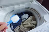 Put the powder detergent in the washing machine Stock photo [3898345] Laundry