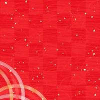 Vermilion red checkered paper gold and silver Mizuhiki [3983827] New