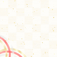 Checkered paper gold and silver Mizuhiki [3983835] New