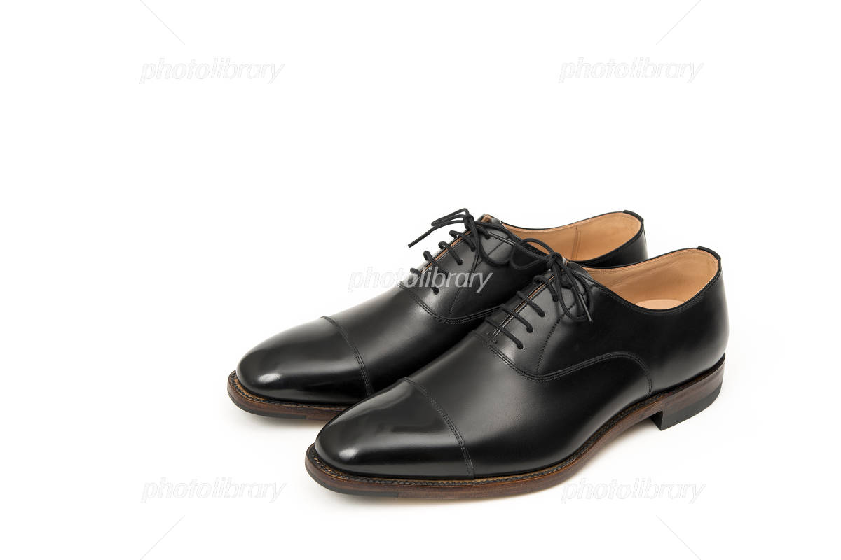 Black leather shoes of for men Photo