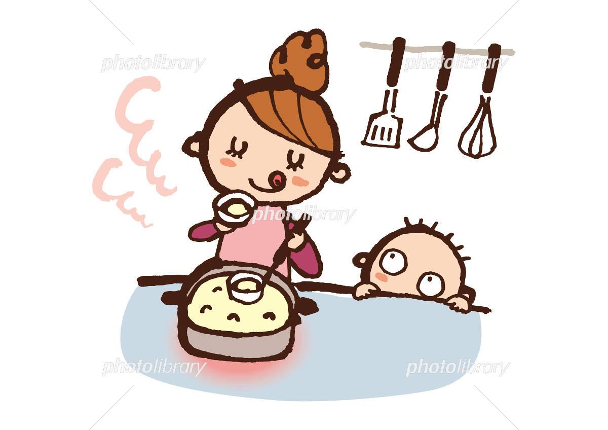 料理するママ イラスト素材 4070531 フォトライブラリー Photolibrary