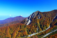 Fall of Oyama mountain range that has been colored by Nishikiiro Stock photo [4064913] Oyama