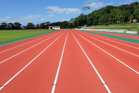 Athletics stadium track Stock photo [4065517] Athletics