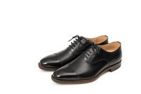 Black leather shoes of for men Stock photo [4065534] Leather