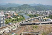 Kitakami and Shinkansen seen from near the Morioka Station Stock photo [4070409] Morioka
