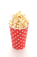 Popcorn white back cup Stock photo [4139600] Popcorn