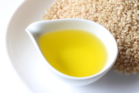 Rice oil and brown rice Stock photo [4143373] Rice