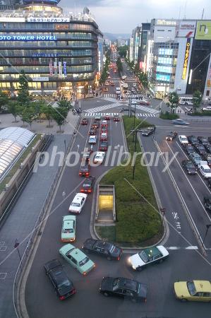 京都駅前ロータリーの写真