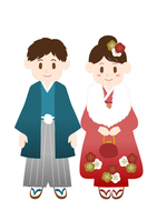 Coming-of-age ceremony New Year person illustrations kimono [4185259] Coming-of-age