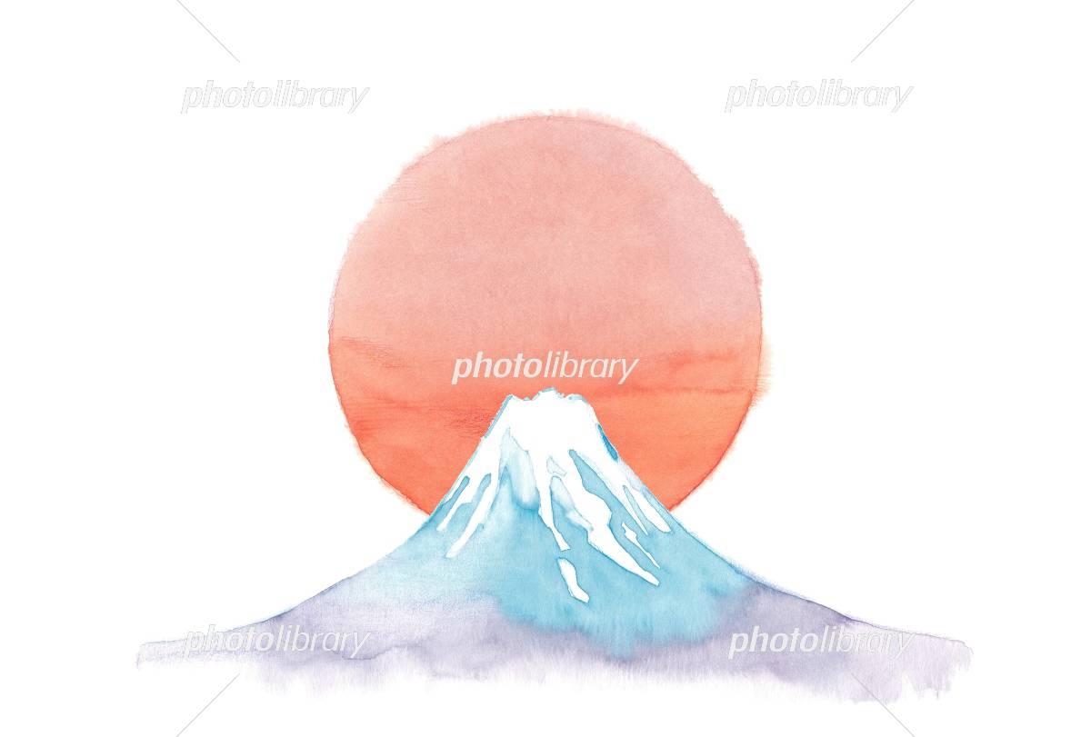 富士山 日の出 イラスト素材 4242009 フォトライブラリー