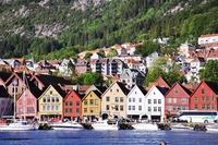 World Heritage Site Bergen Bryggen district Stock photo [4230738] Norway