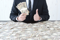 Businessman in hand a lot of money Stock photo [4281889] money