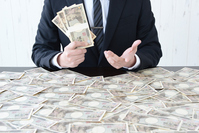 Businessman in hand a lot of money Stock photo [4281894] money