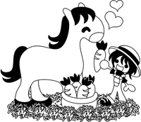 Horse illustrations (monochrome) [4282986] An