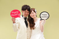 Smile of the bride and groom Stock photo [4283812] bride