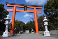 Torii of Ōasahiko Shrine Stock photo [4285243] Tokushima