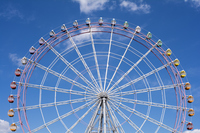 Ferris wheel under the sky of the frontal Stock photo [4285450] Ferris