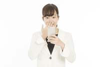 White back that surprised look Businesswoman Sumaho Stock photo [4287157] Sumaho