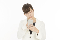 Problem trouble white back to bother looking at business woman Sumaho Stock photo [4287158] Sumaho
