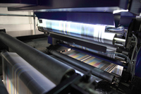 Newspaper to be printed at high speed Stock photo [4288304] Printing