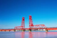 Chikugo River Lift Bridge Stock photo [4376408] Landscape