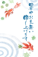 Japanese-style illustrations summer greeting [4379422] sum
