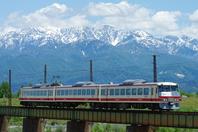 Toyama local railway-16010 form [Alps Express] Stock photo [4379503] Toyama