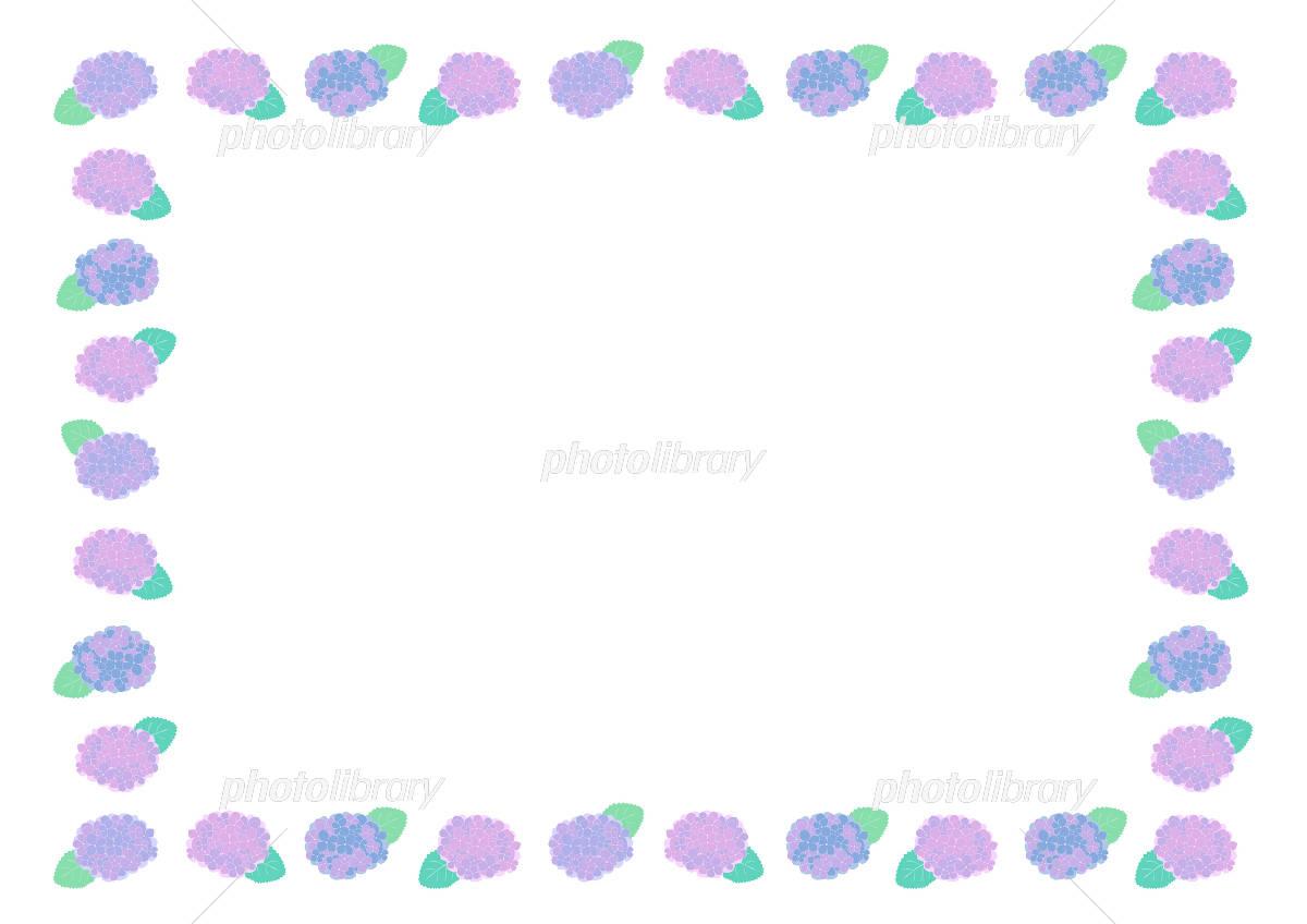 あじさい イラスト 背景 フレーム イラスト素材 フォトライブラリー Photolibrary