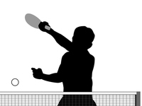 Table Tennis silhouette [4446027] Table