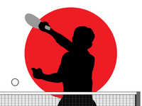 Table Tennis silhouette [4446038] Table