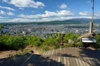 Mount Shinobu Karasukesaki observatory Stock photo [4446739] Fukushima