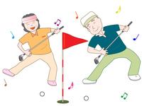 Senior to enjoy the sport [4447997] golf