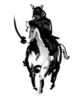 Samurai riding a horse [4452212] samurai